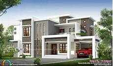 modern house plans in kerala 2496 sq ft flat roof modern contemporary kerala house