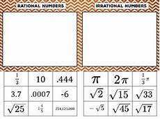 rational vs irrational numbers sorting activity by idea