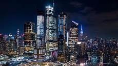 New York City Hudson Yards And Jersey City Lights 4k