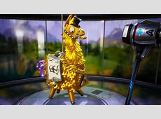Golden Llama that drops legendary weapons, max ammo, and