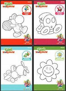Malvorlagen Mario Und Yoshi Crafted World Mario Colouring In Sheets Mario Birthday