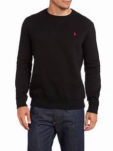 polo ralph crew neck sweatshirt in black for lyst