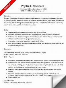 legal resume sle