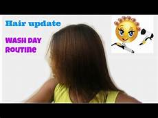 wash day routine for my relaxed hair youtube