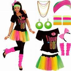 80er Jahre Karneval Kost 252 M F 252 R Damen Mit Modeschmuck 80s