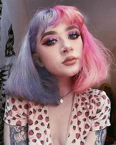 Half Hair Dye Ideas how to get half and half hair color in 2020 aesthetic