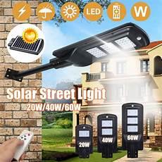 20w 40w 60w solar powered led wall street light outdoor