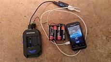 handy laden mit standard batterien also ohne steckdose und