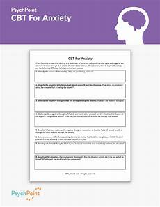 cbt for anxiety worksheet psychpoint