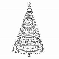 ausmalbilder erwachsene weihnachtsbaum weihnachtsbaum gezeichnet doodle weihnachten fichte