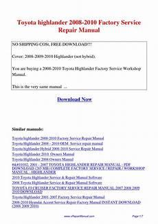 car service manuals pdf 2007 toyota highlander hybrid parental controls toyota highlander 2008 2010 factory service repair manual pdf by david zhang issuu