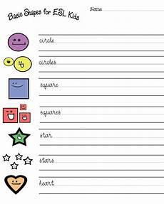 esl free shapes worksheets hubpages