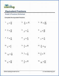 fraction worksheets year 5 equivalent 4175 grade 5 math worksheet fractions equivalent fractions k5 learning