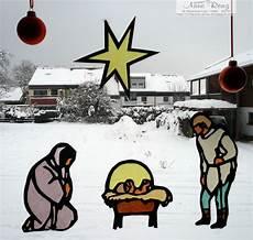 infopost kreativ mit stempel weihnachtskrippe am