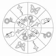 Malvorlage Jahreszeiten Mandala Jahreszeiten Mandala 2 F 252 R Kindergarten Kita Und Schule