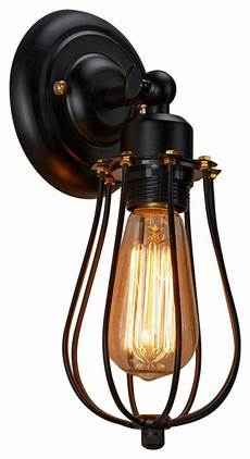 wire cage wall sconce light industrial wall sconces by highlight usa llc