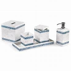 Badezimmer Accessoires Blau - blue weave bathroom accessories bath accessories home