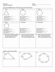 geometry name polygons worksheet period name each db excel com