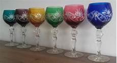 bicchieri di cristallo di boemia bicchieri da di cristallo di boemia set di 6 catawiki