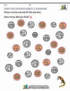 money worksheets pennies 2288 kindergarten money worksheets 1st grade