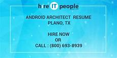 android architect resume plano tx hire it we get it done