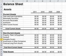 6 free balance sheet templates excel pdf formats