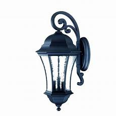 acclaim lighting waverly collection 3 light matte black outdoor wall light fixture 3622bk