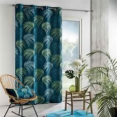 vorhang blau vorhang 140 x 260 cm tropical blue blau gardinen