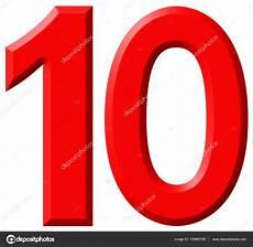 le chiffre 10 dix isol 233 sur fond blanc rendu 3d