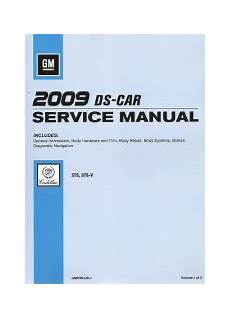 free download parts manuals 2009 cadillac sts v on board diagnostic system 2009 cadillac sts sts v factory service manual 5 volume set