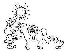Ausmalbilder Ostern Pferde Ostermalevorlagen F 252 R Kinder Im Kidsweb De