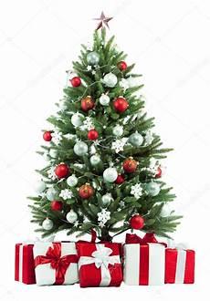 Weihnachtsbaum Rot Weiß Geschmückt - fir tree stock photo 169 irochka 1429967