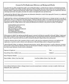 background check consent form sle 8 exles in word pdf