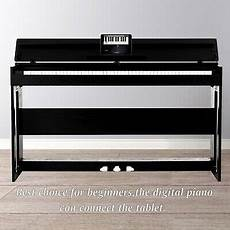 electric piano 88 weighted 88 key electric digital piano weighted keyboard w adapter 3 pedal h stand 699906112780 ebay