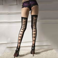 2016 new women sexy thigh high sheer transparent opaque