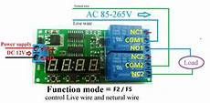 dc 12v 2ch delay relay cycle timer switch module 1 9999s for motor led smart home digital timer