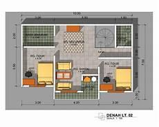 Denah Rumah 3 Kamar Ukuran 7 X 12 Desain Rumah Modern