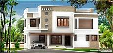 Flat Roof House Exterior In 1894 Square Home Kerala