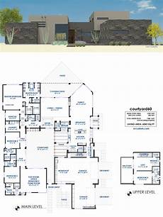 modern house plans with courtyard courtyard60 luxury modern house plan 61custom