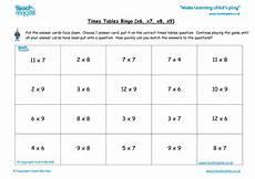 times tables bingo x6 x7 x8 x9 tmk education