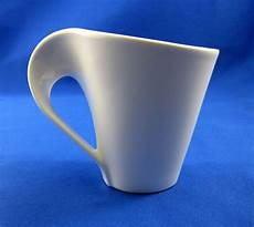 villeroy boch white flat cup mug new wave caffe coffee