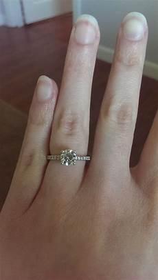 rose gold wedding band platinum engagement ring pics please