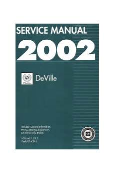 online car repair manuals free 2002 cadillac deville transmission control 2002 cadillac deville factory service manual