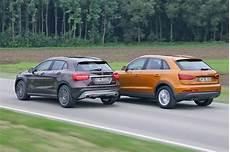 Suv Vergleich Mercedes Gla Trifft Auf Audi Q3 Autobild De