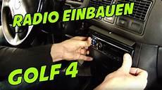 autoradio vw golf 4 einbauen 1 din oder 2 din was