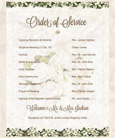 wedding program wedding ceremony order of events wedding ceremony order of events with unity candle