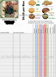 2015 personalized girl scout cookie order form popular