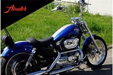 harley davidson sportster chrom custom paint metallic blue