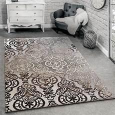 wohnzimmerteppich grau designer teppich moderne ornamente wohnzimmerteppich