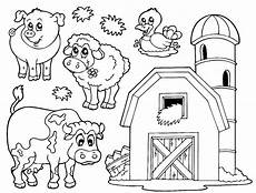 simple farm animals coloring pages 17459 farm animals coloring pages getcoloringpages
